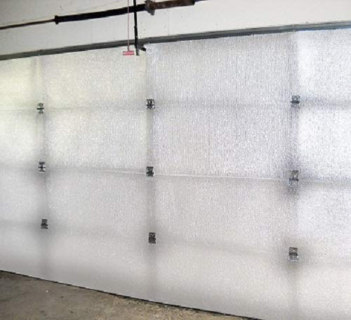 US Energy Products NASA Tech White Reflective Foam Core Garage Door Insulation Kit (9L x 7H) or (9L x 8H) Single Garage Doors R8 (Upgraded Tape)