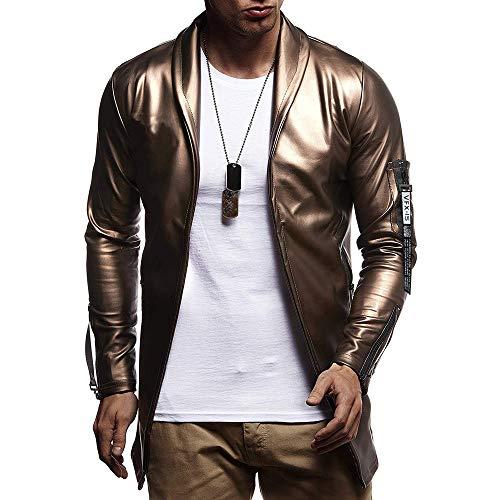 FRAUIT Jacke Herren Männer Hip Hop Ledermantel Kapuzenjacke Freizeit Reisen Tanzparty Festival Party Geschäft Mode Wunderschön Kleidung Top Outwear Coat Bluse M-3XL