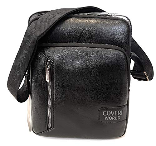 Coveri World CW1908 - Bolso Bandolera para Hombre, Color Negro