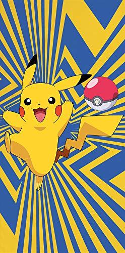 Toalla Pokemon Go Pikatchu 75 x 150 cm, 100% algodón, calidad aterciopelada, toalla de playa, toalla de baño, toalla de sauna, Pokémon Snap Pokeball Ash Legends Arceus Pass.