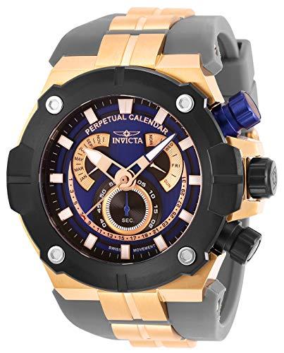 Invicta Men's Sea Hunter Stainless Steel Quartz Watch with Silicone Strap, Grey, 31 (Model: 29956)