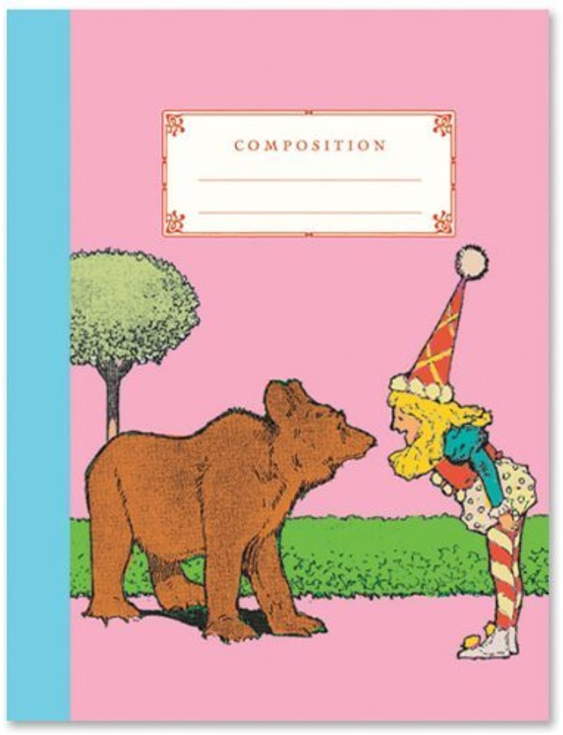 Bear and Candy Girl Compostion Book by eeBoo