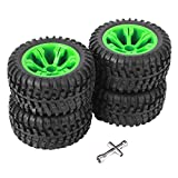 Neumáticos de Coche RC, 1:12 Llantas de Rueda de Coche Todoterreno Neumáticos de Goma RC para...