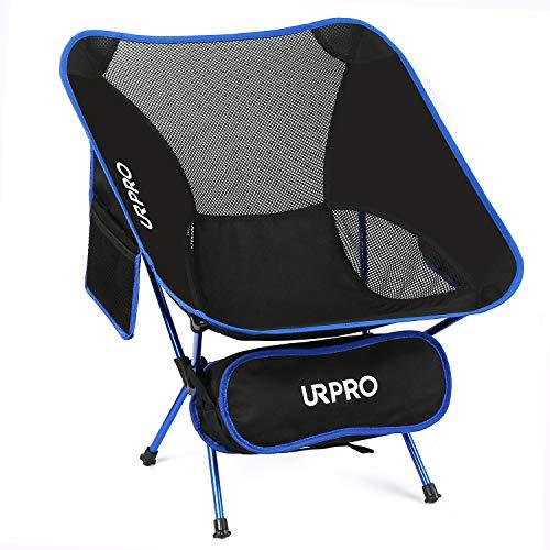 URPRO Camping Stuhl Ultraleichte tragbare Klappstühle mit Tragetasche Schwere 145 KGS Kapazität Klappstuhl Camping Klappstühle Strand CC5954-B