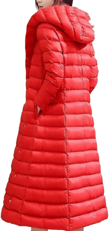 Abetteric Women Oversized Below The Knee Lightly Fall Winter Jacket Outwear