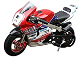 SYX MOTO Apex Dual Start 49cc 2 Stroke Mini Pocket Rocket Bike Kids Gas Powered Pocket Bike Motorcycles,Blue