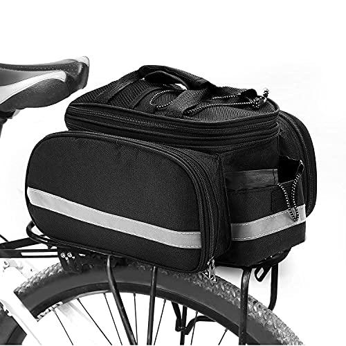 Yuragim Borsa Posteriore Bici, 10L-25L Bagagli per Portapacchi da Bici Multifunzionale, Borsa impermeabile, con copertura antipioggia, per Ciclismo, Viaggi, Pendolari, Campeggio e all'aperto