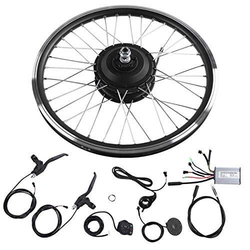 DAUERHAFT Kt900S Pantalla LED 700C Kits de conversión de Bicicleta eléctrica 36 V / 48 V 350 W, para Bicicleta eléctrica para Freno V y Freno de Disco(#1)