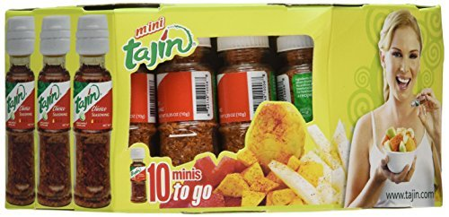 Tajin Seasoning with Lime 10 Minis to Go, 10/.35 Oz. Bottles by Tajin
