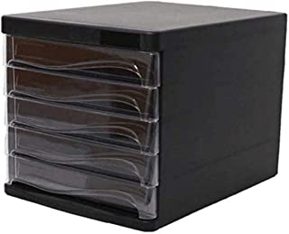 MTYLX Cabinet de Fichier/Rack, 5 Tiroirs En Plastique de Bureau de Sécurité de Bureau Armoire Armoire Armoire de Rangement...