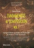 Temario de Fundamentos de composición VOL. I: Correspondiente al Cuerpo de Profesores de Música y Artes Escénicas