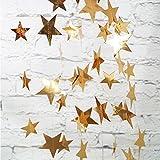 Yuccer 2 Paquete Guirnalda de Papel Decoración Estrella Papel Decoracionde Colgante para Boda Bebé Duchas Fiesta de Cumpleaños (Oro)