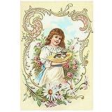 GWrix Gartenflaggen,Hauptflagge,Garten Banner,Feiertage Flags,Künstlerische Fahnen,Kleines Mädchen-Nettes Kätzchen,Kinderflaggen Im Freien Für Partei,Jahrestag,Hochzeit
