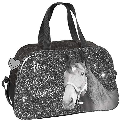 PASO - PFERDE UNIVERSAL TASCHE 40x25x13 cm - MY LOVELY HORSE - GRAU