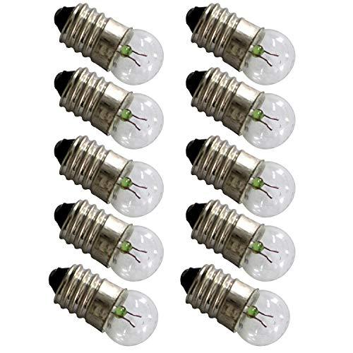 TOTOT 10pcs E10 Mini Light Bulbs 3.8V 0.3A Physical Electrical Experiment Screw Base Indicator Light Incandescent Bulb Old-Fashioned Flashlight Lamp