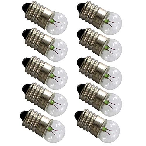 TOTOT 10pcs E10 Mini Light Bulbs 3.8V 0.3A Physical Electrical Experiment Screw Base Indicator Light Incandescent Bulb Old-Fashioned Flashlight Lamp