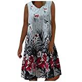Maxi Dresses for Women Summer Classic and Comfortable Sleeveless Casual Independence Day Printed Sundress Crossbody Bags Dresses 2021 Tie Dye Dress V Neck Shirts