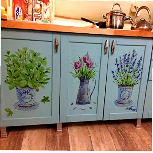 Amoyer Tiesto Pegatinas De Pared Decoración Maceta De Cocina De Cristal De Ventana Mural Vinilos Baño Impermeable del Papel Pintado