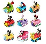 VTech - Surtido coches interactivos TutTut Bólidos Disney, válidos para todos playsets de la colección TutTut, personajes mágicos Mickey, Minnie, Daisy, Goofy y Donald, modelos surtidos (1 unidad)