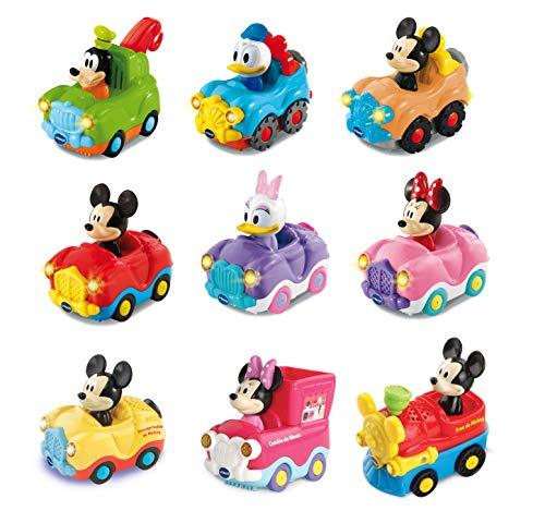 VTech - Surtido coches interactivos TutTut Bólidos Disney, válidos para todos playsets de la colección TutTut, personajes mágicos Mickey, Minnie, Daisy, Goofy y Donald, modelos surtidos