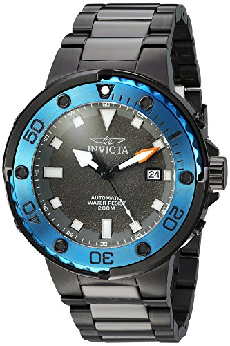 Invicta Men's Pro Diver Automatic-self-Wind Diving Watch with Stainless-Steel Strap, Black, 26 (Model: 24466)