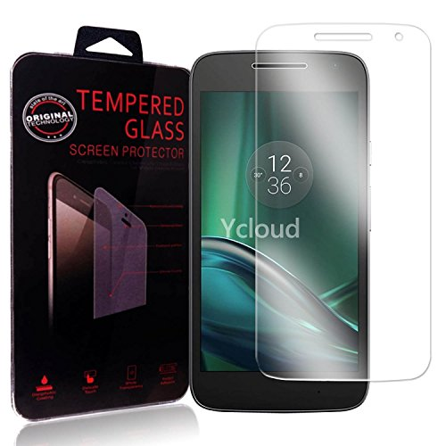 Ycloud Panzerglas Folie Schutzfolie Bildschirmschutzfolie für Lenovo Moto G4 Play (5.0 Zoll) screen protector mit Festigkeitgrad 9H, 0,26mm Ultra-Dünn, Abger&ete Kanten