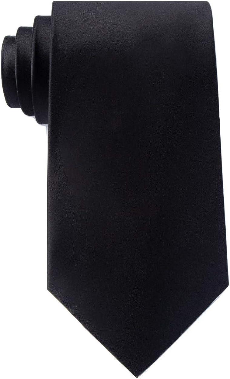 Silk Wedding Tie Mens Boys Skinny Regular store Necktie Max 84% OFF Essential Black