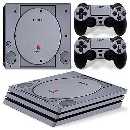 Sony PS4 Playstation 4 Pro Skin Design Foils Aufkleber Schutzfolie Set - Retro PSOne Motiv