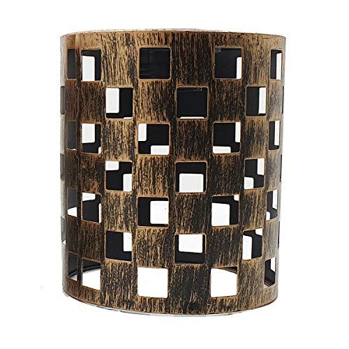Estilo abierto retro fácil ajuste lámpara colgante de metal jaula tambor pantalla vintage industrial techo lámpara lámpara colgante cocina pasillo salón salón (cobre cepillado P5)