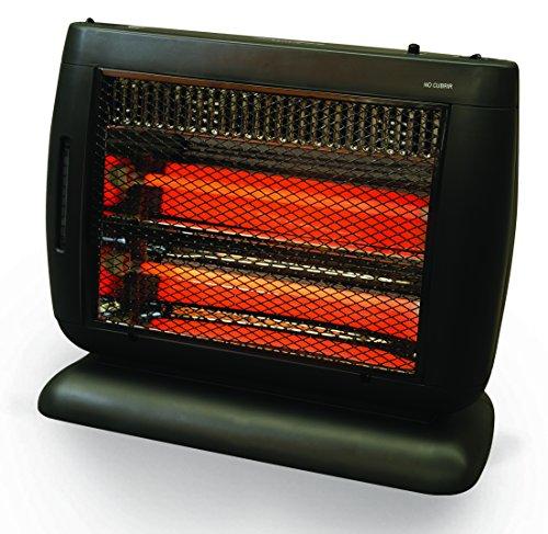 HeatWave Hq1261U Calefactor de Cuarzo, 2 Niveles con Humidificador, Contemporary, Color Gris, 47 x 23 x 38 cm