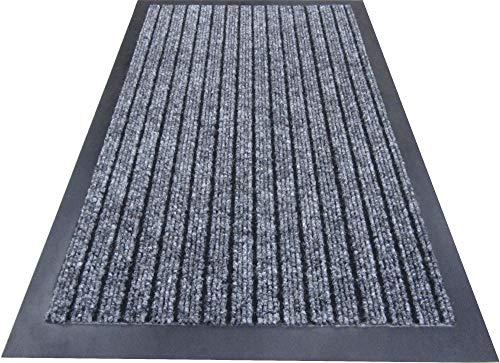Alta calidad Deluxe Medium (50x 80cm) color gris acanalado Doormats. Se puede lavar a máquina. Alfombra de puerta de entrada adecuado cocina Doormats, entrada mats, lavable alfombrillas, oficina alfombrillas,–Felpudo antisuciedad esteras, esteras de polvo, control de polvo felpudos Doormats,, alfombrillas, control de polvo alfombrillas. Estos Borde de goma antideslizante alfombrillas están entre los mejores polvo cazadores alfombrillas y se puede utilizar en oficina recepción, restaurantes, tiendas de alimentación, aprox, peluquería, oficinas de correos y apagado LICENCE tiendas.