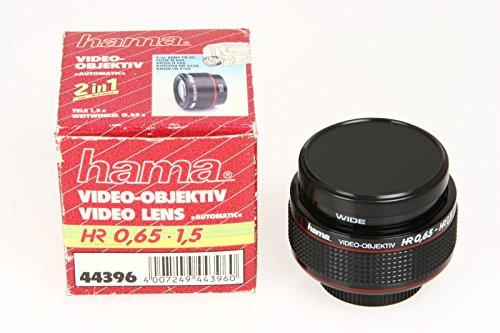 Hama 44396 Video Objektiv 2in1, HR 0,65x und 1,5x Anschluss 37mm