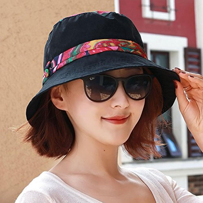 Ladies Women Hats Spring Summer Fashion Fisherman Hat Leisure Basin Cap Elegant Outdoor Visor 54Cm59Cm Black Adjustable