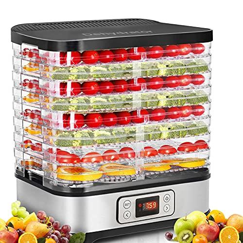 COOCHEER Essiccatore frutta e verdura,Timer di 72 ore,400 W,8 pallet,Essiccatore...