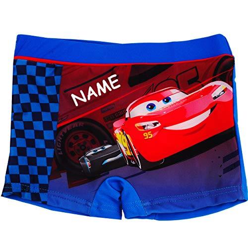 alles-meine.de GmbH Badehose / Badeshorts - Disney Cars - Auto - Lightning McQueen - incl. Name - Größe 6 bis 7 Jahre - Gr. 122 bis 128 - für Jungen Kinder Badepants - Boxershort..