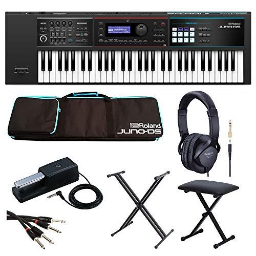 Roland Synthesizer JUNO-DS61 【Roland製/純正アクセサリーセット】 キーボードスタンド・ベンチ付き