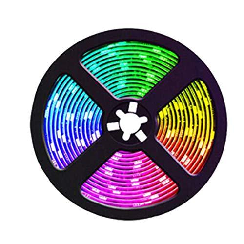JISKGH Luces de Tira LED RGB Color Cambiante Color de SincronizacióN de MúSica para DecoracióN Fiesta en Casa 20M Luces de Tira con Enchufe Remoto de la UE