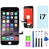 for iPhone 7 Screen Replacement Black 4.7' LCD Display Touch Screen Digitizer Assembly Kit with Free Repair Tools (iPhone 7 Black)
