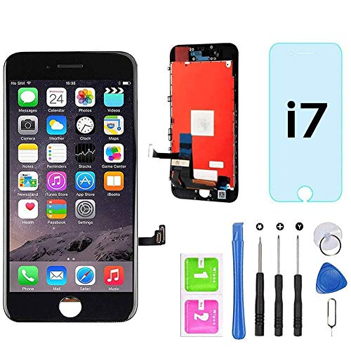"for iPhone 7 Screen Replacement Black 4.7"" LCD Display Touch Screen Digitizer Assembly Kit with Free Repair Tools (iPhone 7 Black)"
