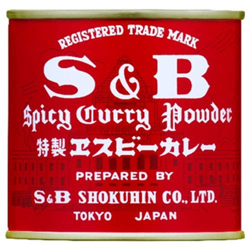 エスビー食品 S&B 赤缶カレー粉 84g缶×10個入×(2ケース)