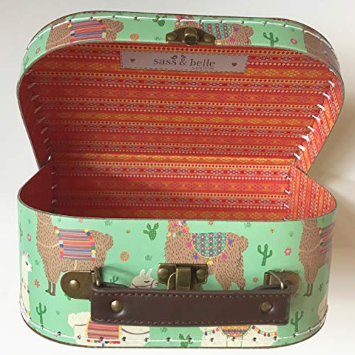 Sass and Belle Suitcase / Storage Box. 3 different sizes. (Lima LLama, Small)