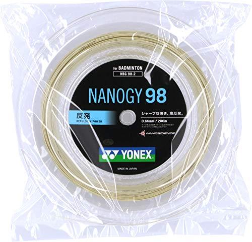 ヨネックス(YONEX) バドミントン ストリングス ナノジー98 (0.66mm) NBG98-2 コスミックゴールド ロール200m