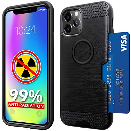 YUEKAI Wallet Card Holder Cover Compatible with iPhone 11 Case (2019), Full Body Double Protection Compatible with iPhone 11 (Black)