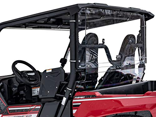 SuperATV Lightly Tinted Polycarbonate Rear Windshield for Yamaha Wolverine X2 (2019-2020) - Easy to Install!