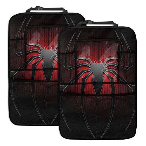 LMMZ Movies S-pi-derman Car Back seat Organizer Multi Touch Screen Tablet Holder Storage Pockets Kid Snacks Water Bottle Toys Drinks Storage Seat Back Protectors (2 Pack)