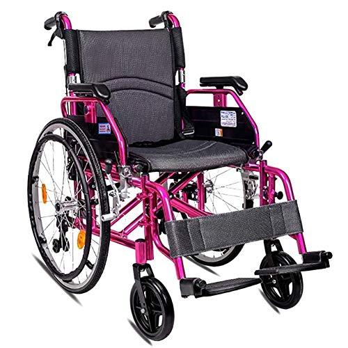 Lightweight Folding Elderly Wheelchair Driving Medical Elderly Wheelchair Lightweight Folding Elderly Elderly Wheelchair Car Elderly Disabled Magnesium Alloy Aluminum Trolley