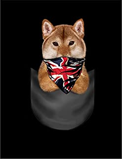 Fox Republic 柴犬 ポケット ユニオンジャック 犬 イエロー キッズ パーカー シッパー スウェット トレーナー 150cm
