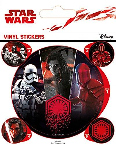 1art1 Star Wars Poster-Sticker Autocollant - Épisode VIII, Les Derniers Jedi, First Order (12 x 10 cm)
