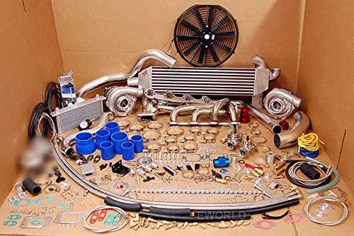 Twin Turbo TT MUSTANG 260 289 302 351 5.0L KIT FOX BODY HUGE PACKAGE 1000hp