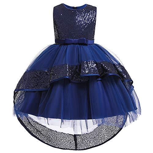 Mädchen Partei Formale Kleider Kleine Mädchen Armellose Pailletten Hallo-lo Spitze Festzug Hochzeits Ballkleid
